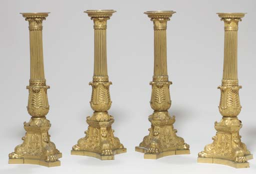 A SET OF FOUR LATE EMPIRE ORMO