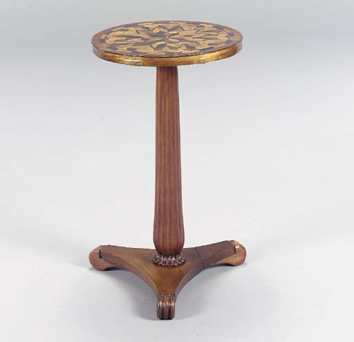 A WILLIAM IV PARQUETRY AND MAH