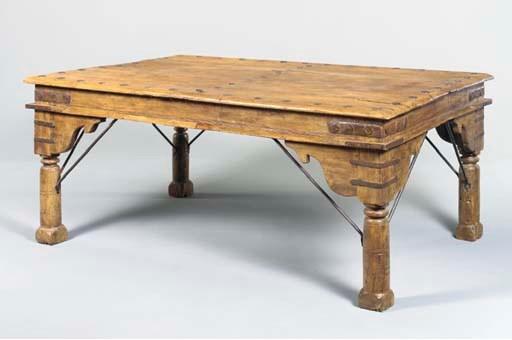AN INDIAN TEAKWOOD CENTER TABL