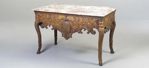 A REGENCE STYLE OAK SIDE TABLE