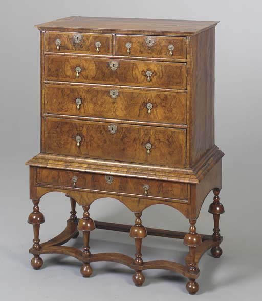 A WILLIAM & MARY CHEST-ON-STAN