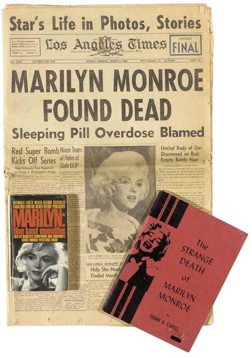 MARILYN MONROE PAPER ITEMS