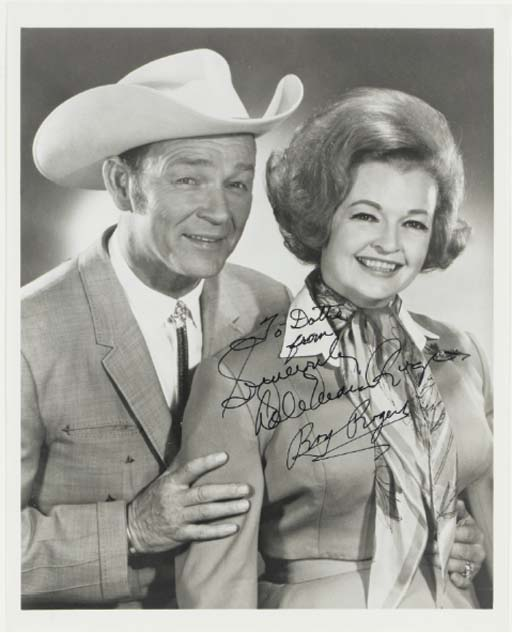 ROY ROGERS AND DALE EVANS SIGN