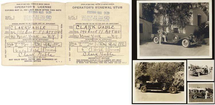 CLARK GABLE SIGNED OPERATOR'S