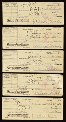 CLARK GABLE SIGNED CHECKS