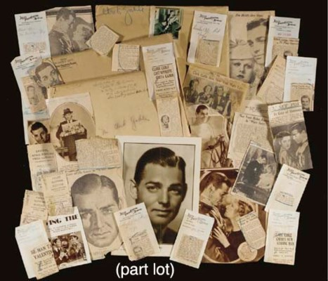 CLARK GABLE PRESS CLIPPINGS