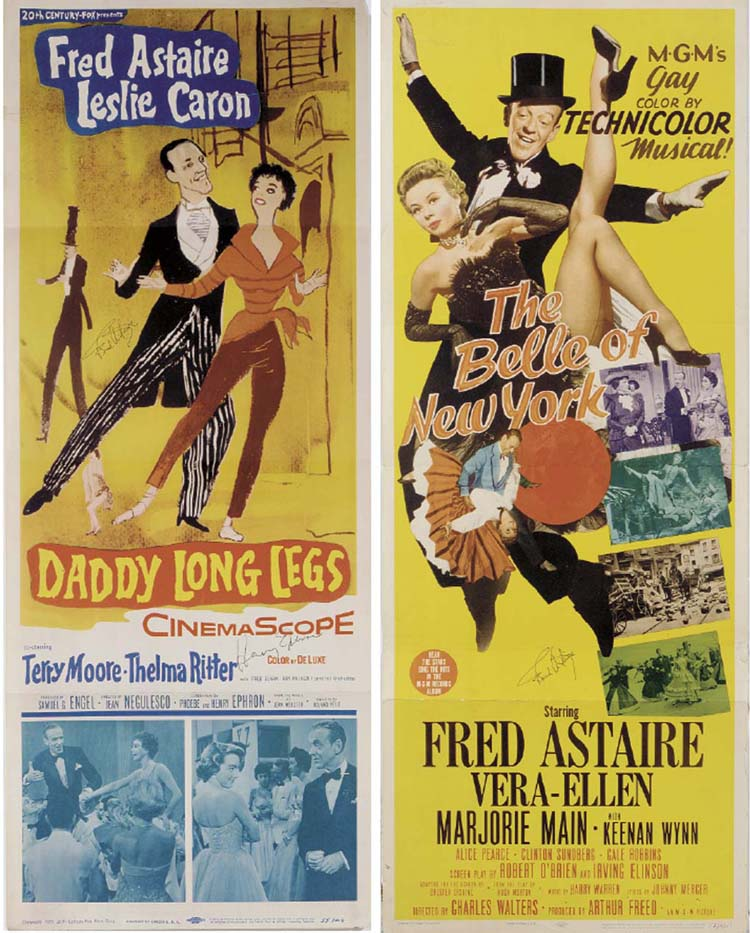 FRED ASTAIRE SIGNED POSTERS