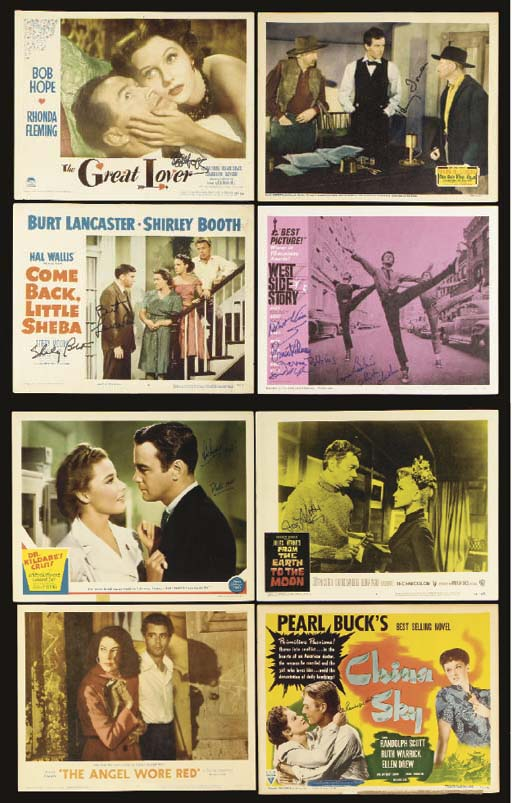 VARIOUS SIGNED LOBBY CARDS