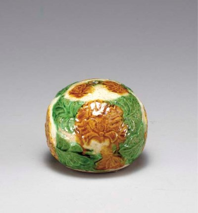 A VERY RARE SANCAI-GLAZED MOLD