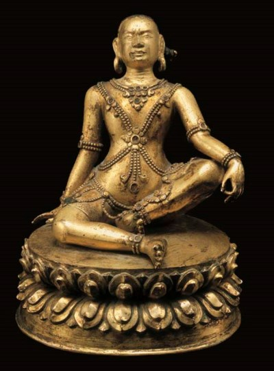 A Gilt Bronze Figure of Avadhu