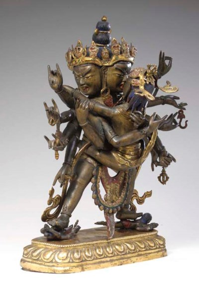 A Bronze Figural Group of Chak