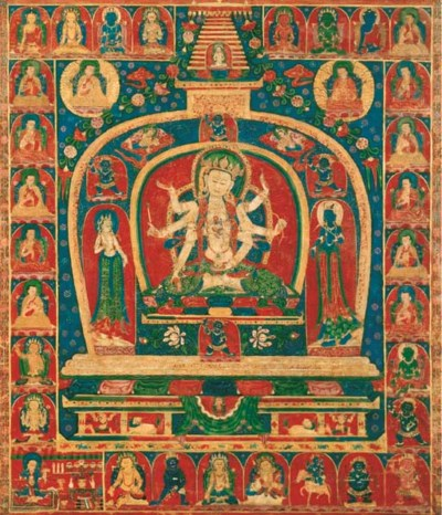 A Thangka of Ushnishavijaya
