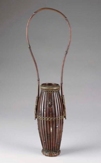 A Bronze Flower Basket