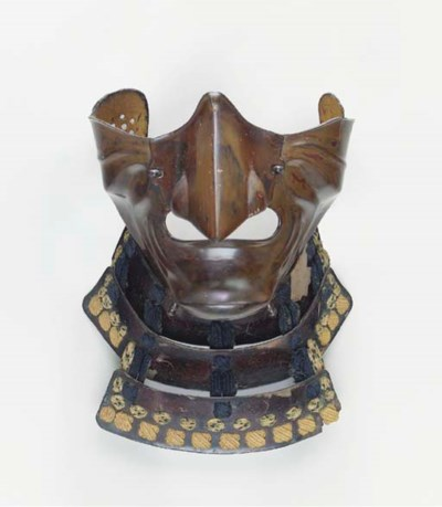 A Lacquered Half-Mask formed a