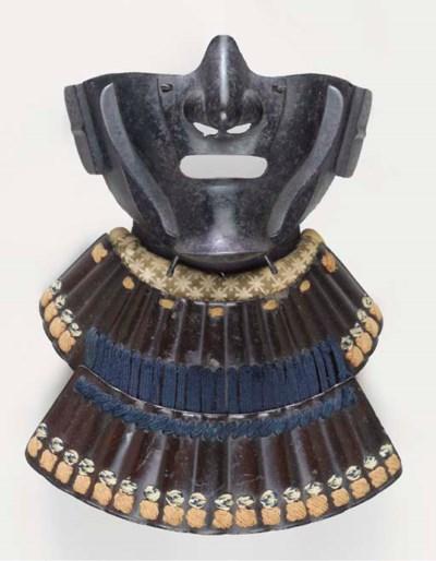 An Iron Half-Mask (Mempo)