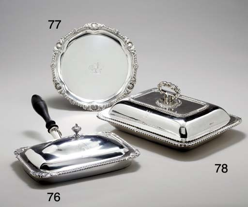 A GEORGE III SILVER TOASTED CH