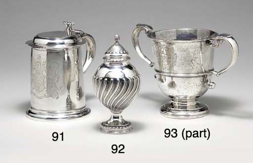 A GEORGE II SILVER TWO-HANDLED