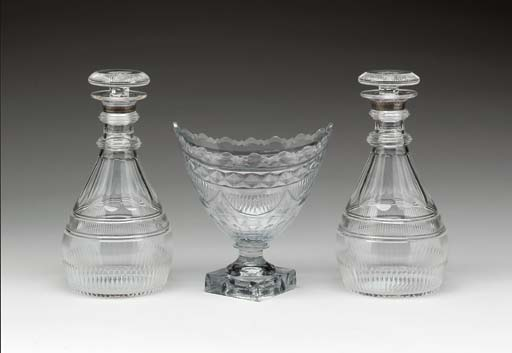 A GEORGE III FOOTED GLASS BOWL