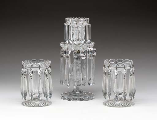 TWO PAIRS OF ENGLISH GLASS LUS