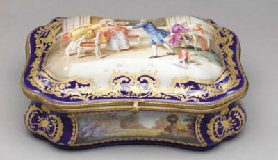 A GILT-METAL MOUNTED SEVRES ST