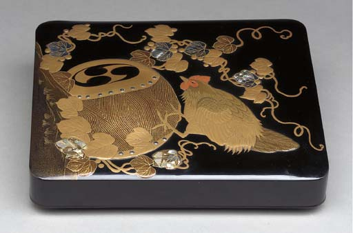 A JAPANESE LACQUER RIMPA STYLE