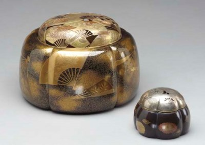 TWO JAPANESE LACQUER INCENSE B