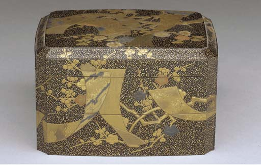A JAPANESE LACQUER TWO-TIER BO