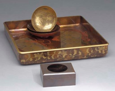 A GROUP OF JAPANESE LACQUER IT