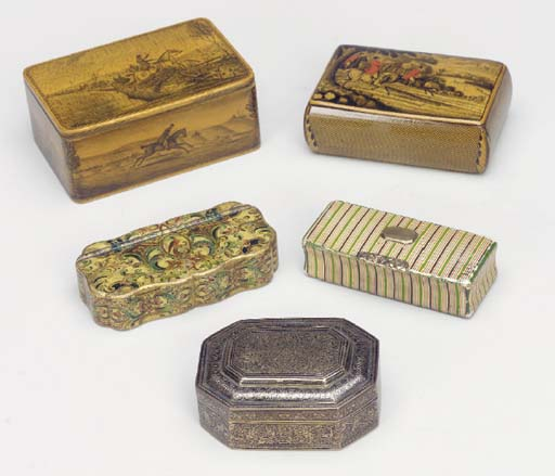 A GROUP OF SMALL BOXES,