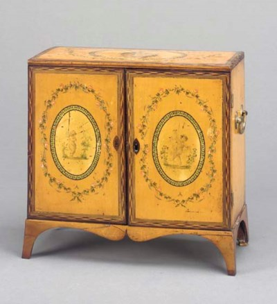 A GEORGE III PAINTED TABLE CAB