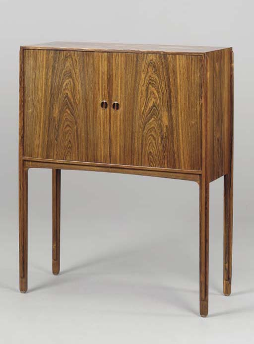 A DANISH ROSEWOOD CABINET,
