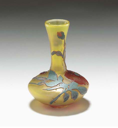 A CAMEO GLASS VASE,