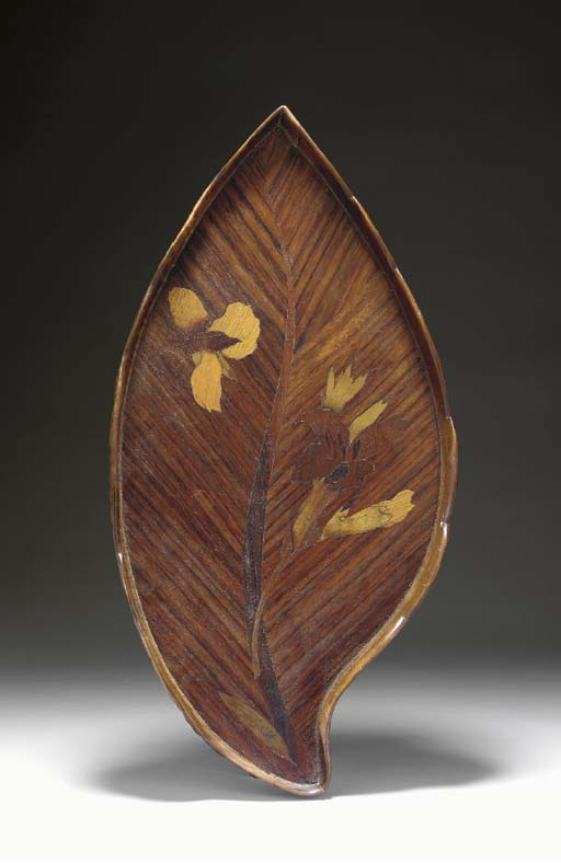 A MARQUETRY INLAID TRAY,