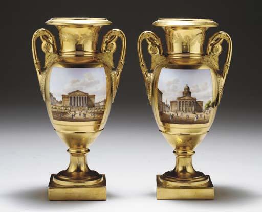 A PAIR OF PARIS GOLD-GROUND TW