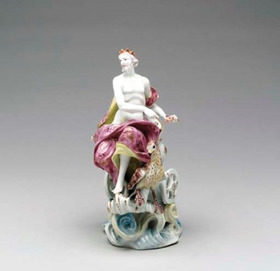 A DERBY FIGURE OF JUPITER AND