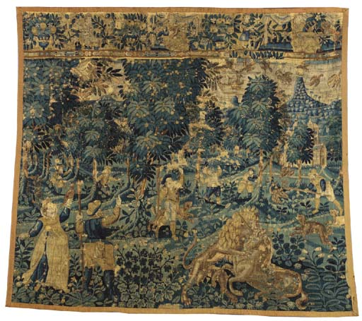 A FLEMISH GAME-PARK TAPESTRY,