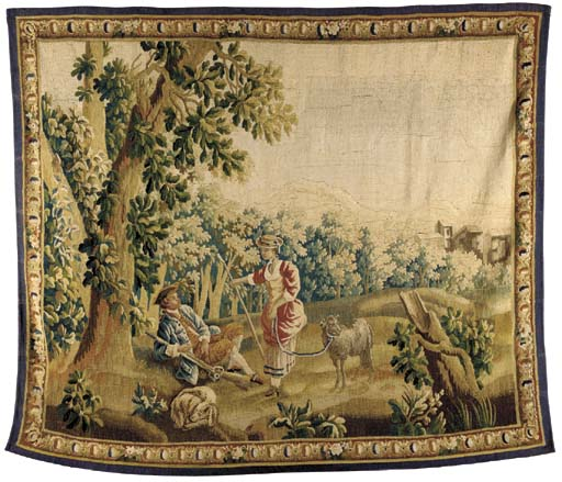 AUBUSSON PASTORAL TAPESTRY,