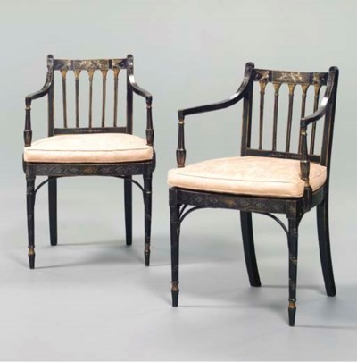 A PAIR OF LATE GEORGE III GREE