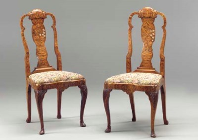 A PAIR OF DUTCH ELM AND FLORAL