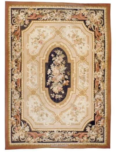 A Napoleon III Aubusson rug,