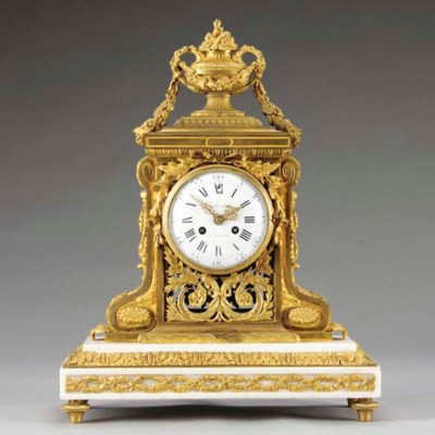 A Louis XVI style ormolu and w
