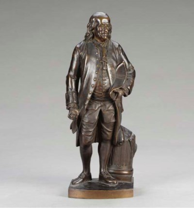 A French bronze figure of Benj