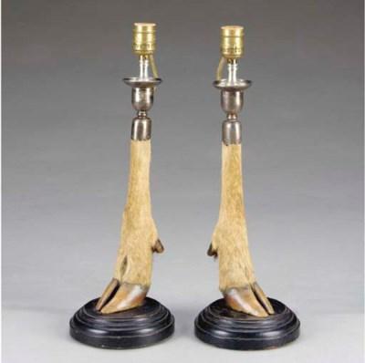 A pair of Scottish silver-moun
