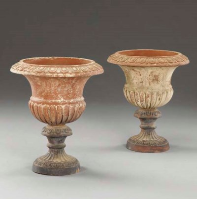 A pair of terracotta campana-f