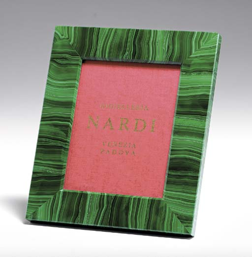 A MALACHITE PICTURE FRAME, BY