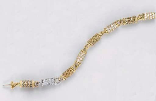 A COLORED DIAMOND, DIAMOND AND