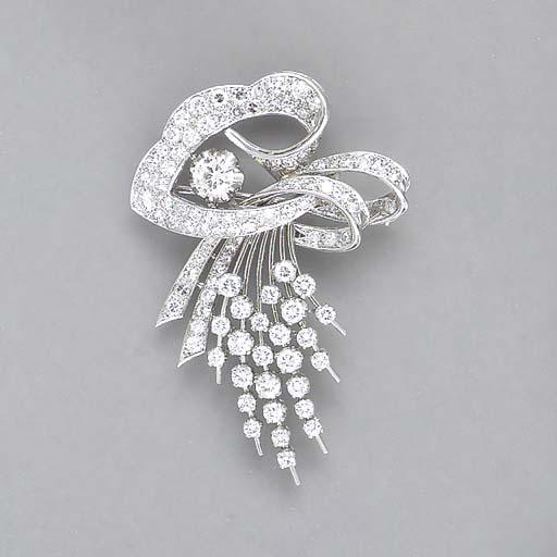 A DIAMOND AND PLATINUM SPRAY B