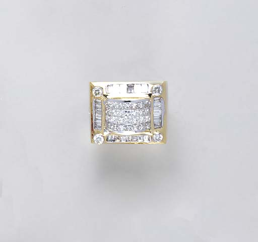 A GENTLEMAN'S DIAMOND AND 18K