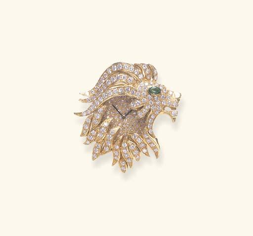 A DIAMOND, EMERALD AND GOLD WA