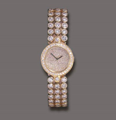 A DIAMOND WRISTWATCH, BY HARRY